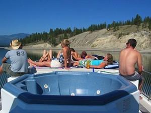 Vancouver houseboat hot tub